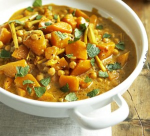 pumpkin chickpea and coconut curry